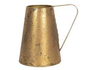 Zlatý dekorační džbán s patinou Bernetta - 22*16*21 cm