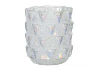 Skleněný svícen na čajovou svíčku Enzo - Ø 10*9 cm