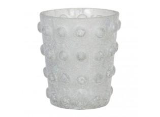 Skleněný svícen na čajovou svíčku Enzo - Ø 8*8 cm