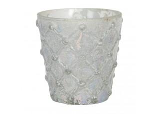 Skleněný svícen na čajovou svíčku Enzo - Ø 8*7 cm