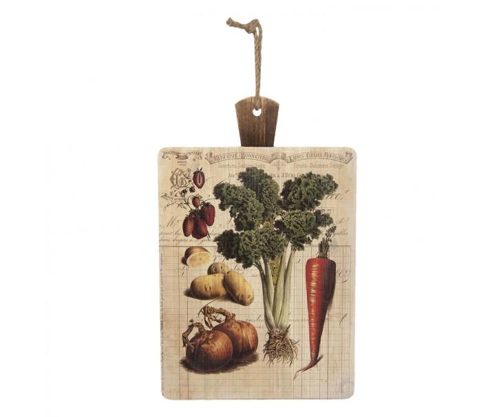 Závěsné dekorační prkénko se zeleninou a ovocem - 35*1*56 cm