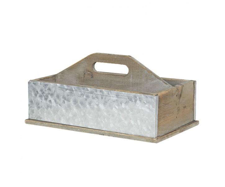 Dřevěný dekorační box - 28*13*18 cm