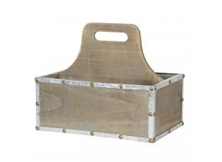 Dřevěný box s držadlem - 28*19*24 cm