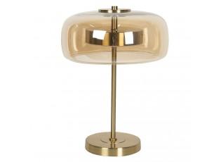 Světle hnědá stolní lampa Gatien se zlatým podstavcem – Ø 33*33 cm LED