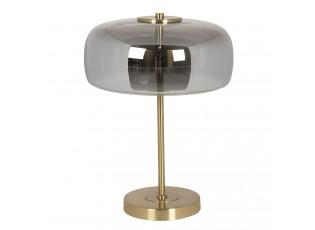 Šedá lampa Gatien se zlatým podstavcem – Ø 33*33 cm LED