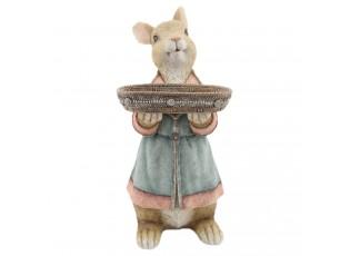 Dekorace králík s podnosem - 23*17*36 cm