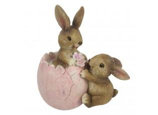 Dekorace králíčků s vajíčkem - 9*5*10 cm