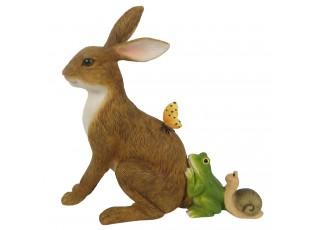 Velikonoční dekorace králíka se zvířátky - 14*5*13 cm