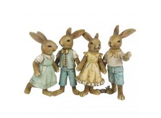 Velikonoční dekorace králíčků - 16*6*11 cm