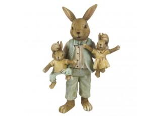 Velikonoční dekorace králičího tatínka s králíčky - 11*7*19 cm