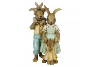 Velikonoční dekorace králičí rodinky - 8*6*15 cm