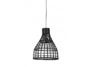 Černé ratanové závěsné světlo Puerto - Ø 34*41cm