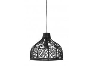 Černé ratanové závěsné světlo Pocita - Ø 42*35cm
