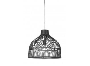Černé ratanové závěsné světlo Pocita - Ø 48*43cm