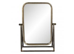 Vintage stojací zrcadlo ve zlatém rámu Nazairé - 28*10*36 cm