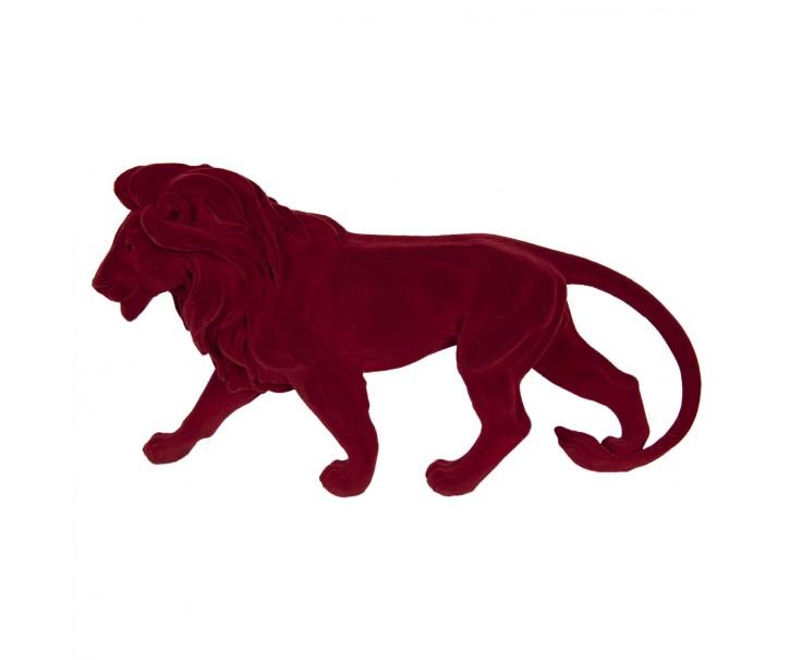 Dekorační soška červeného lva - 43*11*24 cm