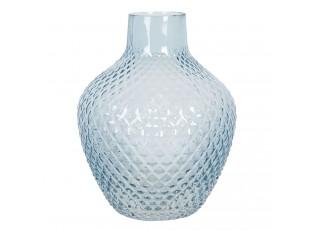 Modrá skleněná váza s úzkým hrdlem Rosamina – Ø 21*25 cm