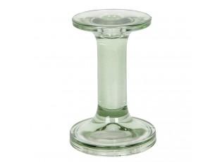 Zelený skleněný svícen Brinnes - Ø 9*13 cm