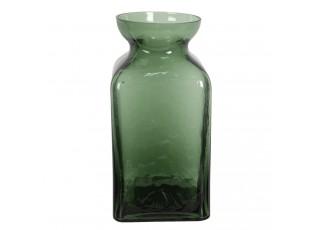 Zelenkavá skleněná váza Erica - Ø 10*19 cm