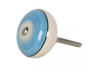 Modrá keramická úchytka ve vintage stylu Cercle – Ø 4*3 cm