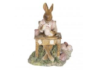 Dekorace králíka malujícího vajíčka - 11*9*14 cm