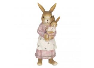 Velikonoční dekorace králičí mámy s králíčkem - 7*7*19 cm