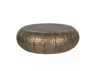 Bronzový dekorační kovový stoleček na květiny - Ø 37*12 cm