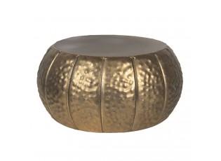 Bronzový dekorační kovový stoleček na květiny - Ø 26*13 cm