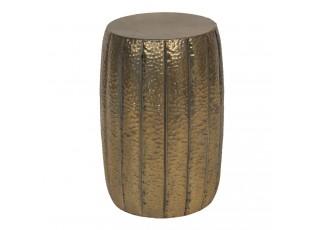 Bronzový dekorační kovový odkládací stolek Alicce -  Ø 33*50 cm