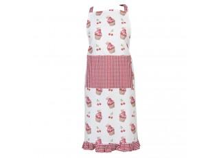 Kuchyňská zástěra z bavlny Cherry Cupcake - 70*85 cm