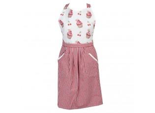 Bavlněná kuchyňská zástěra Cherry Cupcake - 70*85 cm