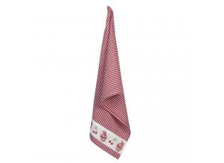 Kostičkovaná bavlněná utěrka Cherry Cupcake - 50*70 cm