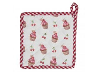 Bavlněná podložka pod hrnec Cherry Cupcake - 20*20 cm