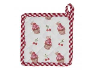 Bavlněná podložka pod nádobí pro děti Cherry Cupcake - 16*16 cm