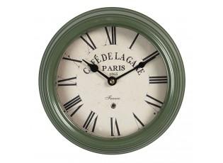Vintage nástěnné hodiny s římskými číslicemi Cafe De La Gare – Ø 22*7 cm / 1*AA