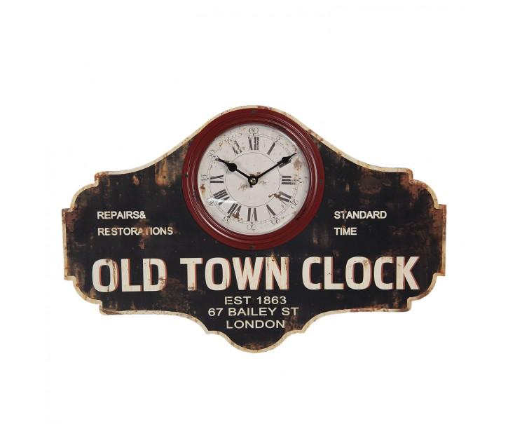 Retro nástěnné hodiny Old Town Clock - 50*3*33 cm / 1*AA