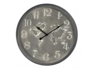 Vintage nástěnné hodiny se světadíly – Ø 48*6 cm / 1*AA