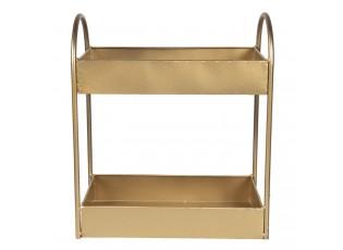 Zlatý kovový policový regál - 30*15*35 cm