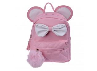 Růžový batoh s ušima Thiery - 21*11*23 cm