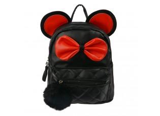 Černý batoh s ušima Thiery - 21*11*23 cm