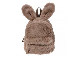 Hnědý plyšový batoh Verney - 21*11*23 cm