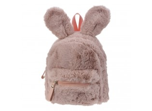 Béžový plyšový batoh Verney - 21*11*23 cm