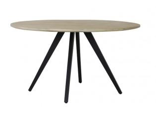 Kulatý jídelní stůl s dřevěnou deskou z mangového dřeva Magnifera - Ø 140*78 cm