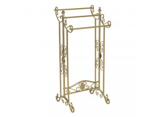 Zlatý kovový stojan na ručníky Frannie  - 40*37*91 cm