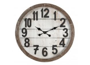 Velké nástěnné hodiny s patinou – Ø 60*6 cm / 1*AA