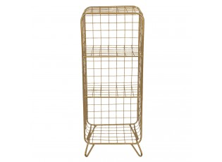 Zlatý policový stojan Eduardo maxi - 35*30*90 cm