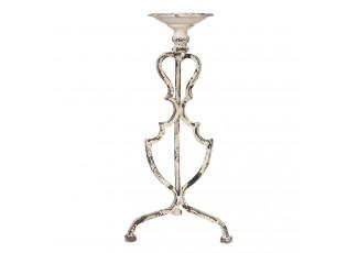 Vintage kovový svícen Eliseo s bílou patinou - 25*21*51 cm