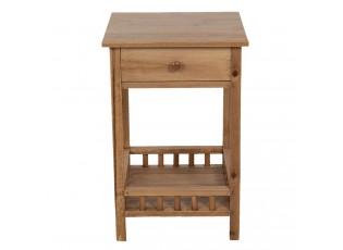 Dřevěný noční stolek se šuplíkem - 36*36*50 cm