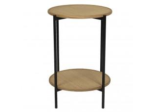 Dvoupatrový odkládací stolek Alfons - 41*61 cm