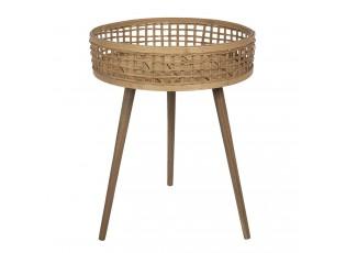Bambusový designový odkládací stolek - 48*62 cm
